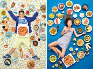 60 crianças de várias partes do mundo fotografadas com tudo o que comem durante uma semana.