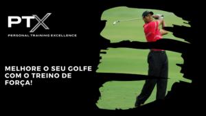 treino de força e golfe