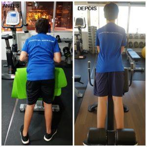 As diferenças a nível de perda de peso e postura estão à vista.